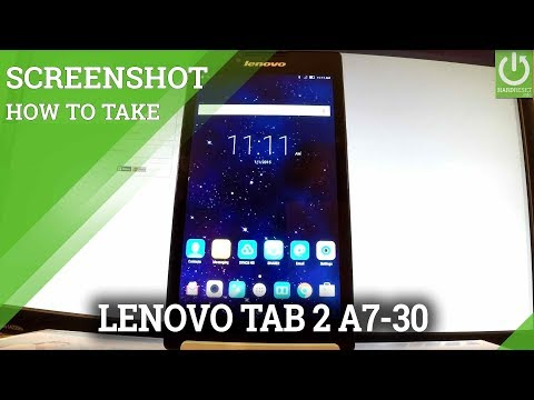 How to Capture Screen in LENOVO Tab 2 A7-30 - Screenshot Tutorial