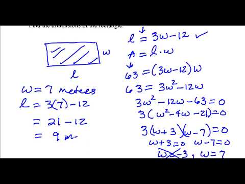 Find the dimensions of a rectangle.