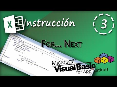 Instrucción For... Next | VBA Excel 2013 #3