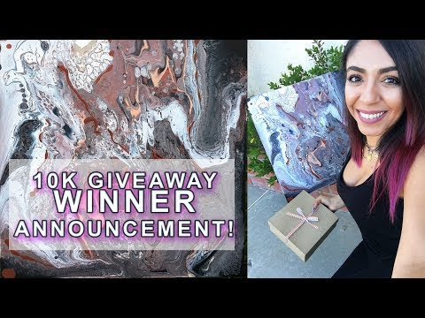 10K GIVEAWAY WINNER ANNOUNCEMENT - Fluid Pouring Painting