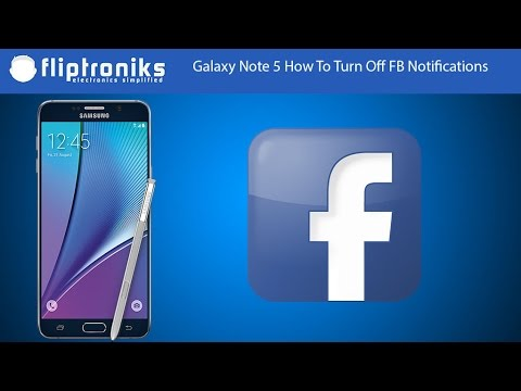 Galaxy Note 5 - How To Turn Off Facebook Notifications - Fliptroniks.com