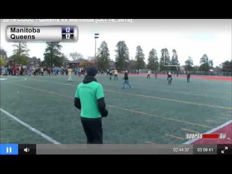 Insane hammer catch and sky in Canadian University Ultimate Championships