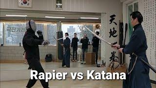 Rapier vs Katana; speed 4/5; 레이피어 vs 카타나 ; ropera vs katana