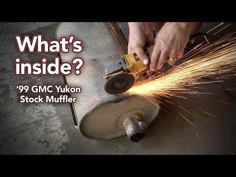 What's inside a stock GMC Yukon muffler? - Cutting open Yukon muffler - How a muffler works