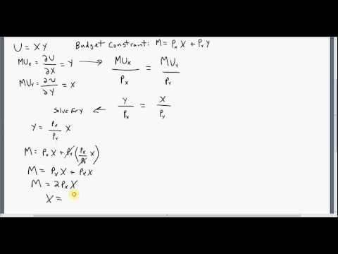 Indirect Utility Function: How to Derive
