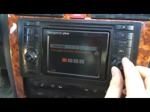 Input the code in the radio Audi A8