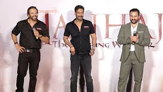 Tanaji-The Unsung Warrior Official Trailer Launch - Ajay D.,Saif Ali K,Kajol,Rohit Shetty
