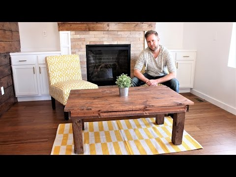 The $30 Farmhouse Coffee Table - Easy DIY Project