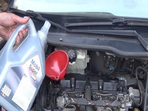 Oil filter change & engine oil change step by step