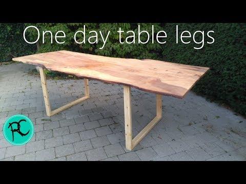 Emergency slab table legs, one day build.