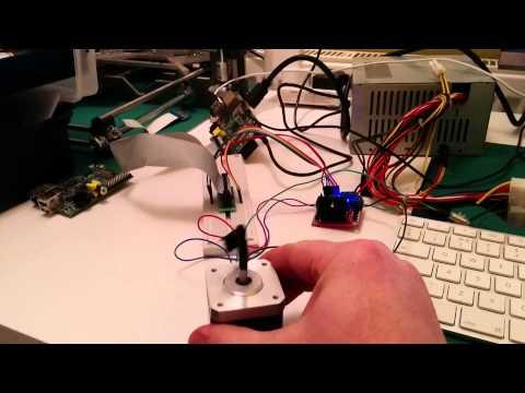 Raspberry Pi - Bipolar stepper control - L298N