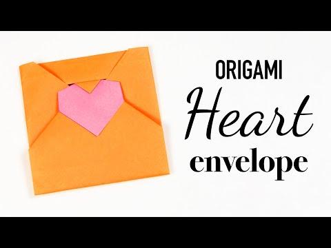 Origami Heart Envelope Tutorial 💌 DIY 💌 Love Letter 💌