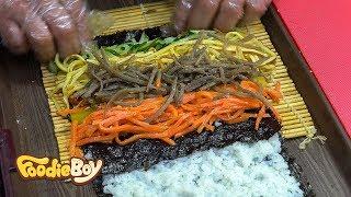 Download Spicy Raw Pollack Salad Kimbap / Korean Street Food / Sokcho Central Market, Sokcho Korea Video