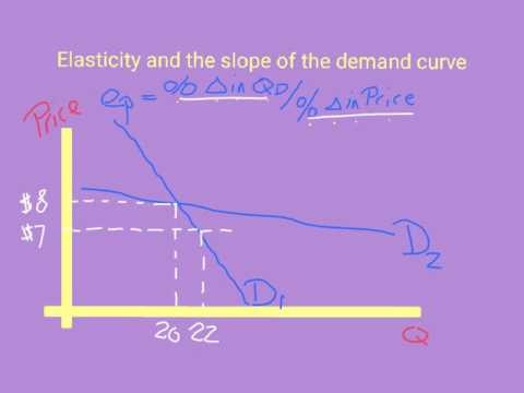 elasticity and the slope of the demand curve