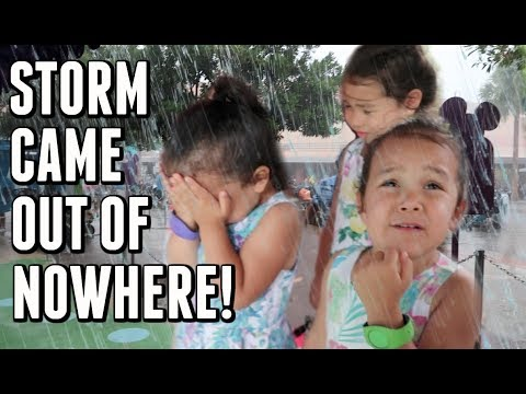 FREAK RAINSTORM DURING OUR VACATION -  ItsJudysLife Vlogs