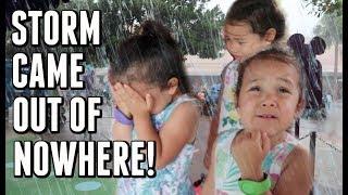 FREAK RAINSTORM DURING OUR VACATION -  ItsJudysLife Vlogs