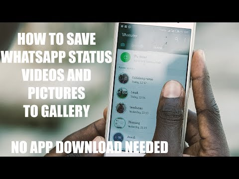 How to Save Whatsapp Photos and Videos Status to Gallery - No App download, No Root Needed!