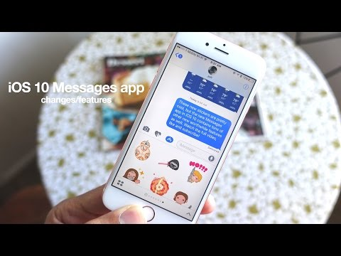iOS 10: Top Messages app features / changes!