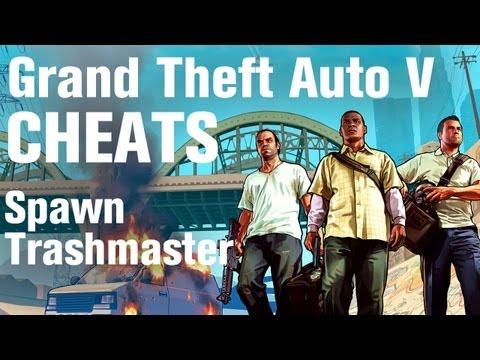 GTA 5 Cheats - Spawn Stunt Trashmaster
