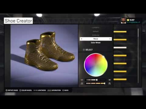 NBA 2K15 Shoe Creator: GOLDEN SHOES w/ DIAMONDS!