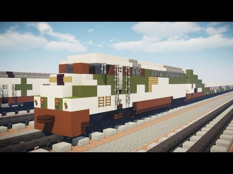 Minecraft Amtrak Cascades F59PHI Locomotive Tutorial