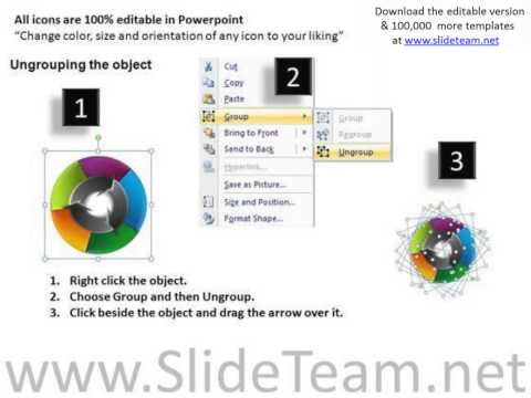 circular arrows process flow chart powerpoint templates pptx
