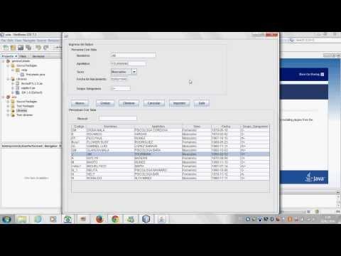 Sistema Registro con java Netbeans Insertar Modificar Eliminar Buscar Imprimir