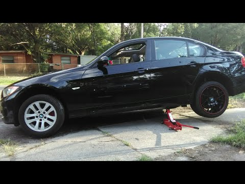 BMW E90 18 inch Wheels Staggered Gloss Black Red Lip
