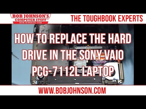 How to replace the Hard drive in the Sony Vaio PCG-7112L Laptop
