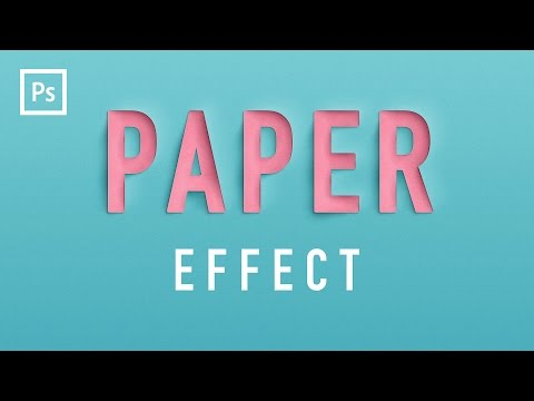 Photoshop Tutorials - Paper Cutout Text Effect