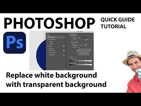 Photoshop CC : Replace white background with transparent background