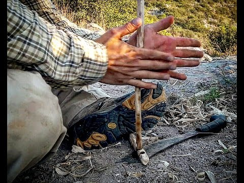 PRIMITIVE FIRE MAKING, CAST AWAY STYLE, THE HAND DRILL