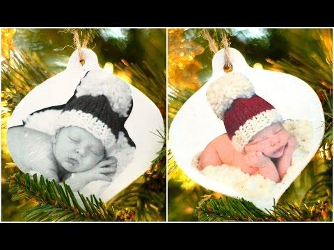 DIY | How to Make Christmas Photo Ornaments!