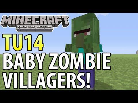 Minecraft (Xbox 360/PS3) - TU14 UPDATE! - BABY ZOMBIE VILLAGERS - TUTORIAL