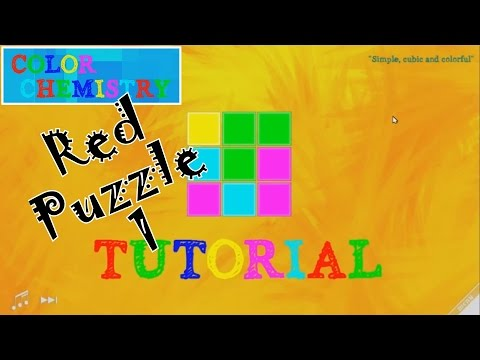 Color Chemistry : Red Puzzle 1 - Tutorial