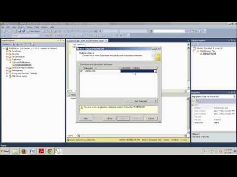SQL Server tutorial 73: How to configure a Transactional Subscriber