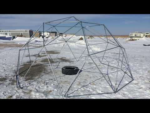 $130 Geodesic Dome 2V Frame Build with conduit struts Part 2 (2018)