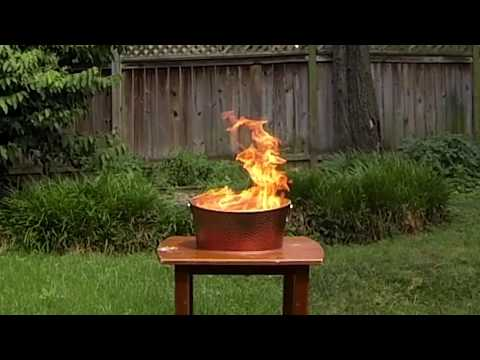 Burning the American Flag (Backyard Retirement Ceremony)