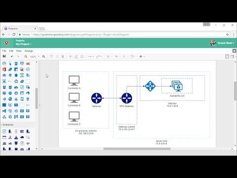 Draw Azure Diagram Online