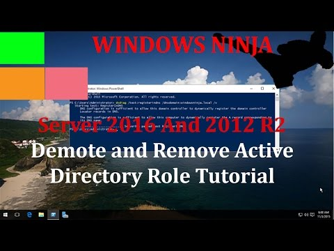 Server 2016 And 2012 R2 - DCDIAG Check IF Active Directory Is Registered In DNS