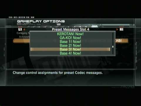 Metal Gear Online Voice F Codecs