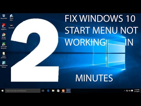 WINDOWS 10 START MENU FIX IN 2 MINUTES