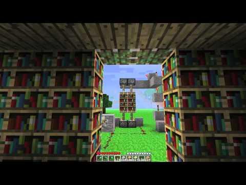 Minecraft: How To Build A Hidden Door In A Bookshelf