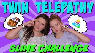 TWIN TELEPATHY SLIME CHALLENGE || Taylor and Vanessa