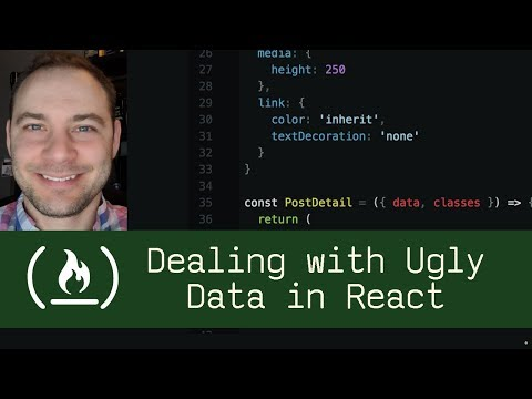 Dealing with Ugly Data in React (P5D66) - Live Coding with Jesse