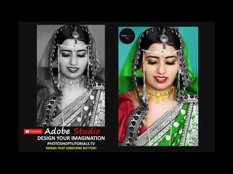 PhotoShop Tutorial:How to black and white photo to colour PhotoShop CC Hindi Tutorial 2018