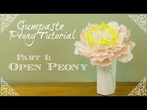 How to Make an Open Gumpaste Peony