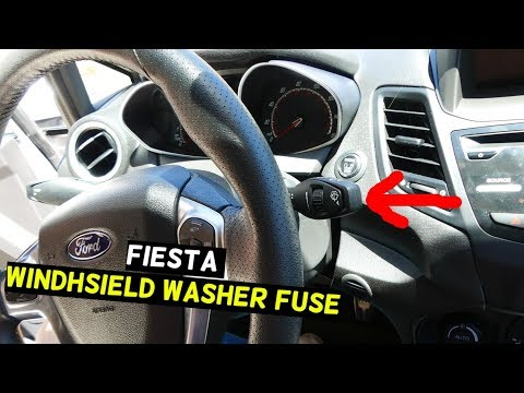 FORD FIESTA WINDHSIELD WASHER PUMP FUSE LOCATION MK7 ST
