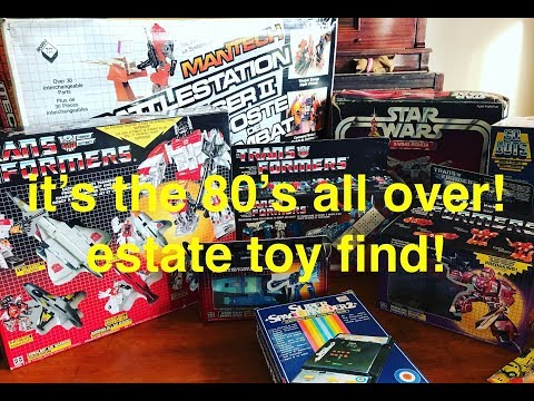 Estate find! unpacking 30 year old boxes full of toys! what's inside?