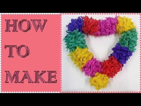 How to Make Tissue Paper Garland | Easy TUTORIAL